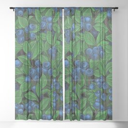 Blueberry Sheer Curtain