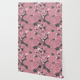 Floral bouquet in pink Wallpaper