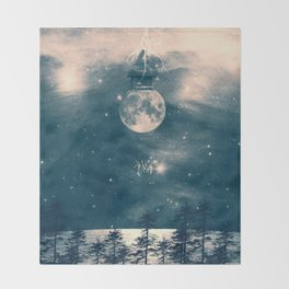 One Day I Fell from My Moon Cottage... Throw Blanket