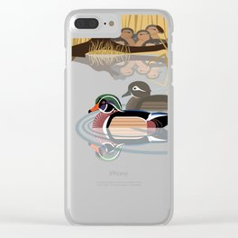 Wood duck Clear iPhone Case