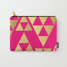 Retro series 10 - Pink and Gold Carry-All Pouch