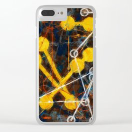atoms and chain reactions Clear iPhone Case
