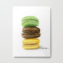 Macarons trio Metal Print
