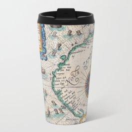 Vintage Nautical Map of the Northeast Passage,1601 Travel Mug