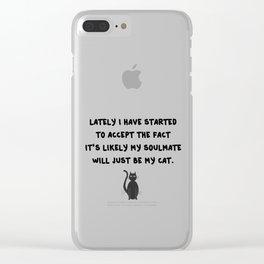 Cat Soulmate Clear iPhone Case
