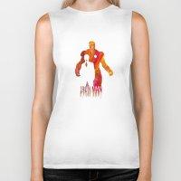 iron man Biker Tanks featuring Iron Man by Jon Hernandez