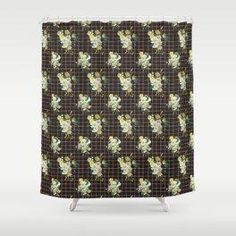 Black line Botanical pattern Shower Curtain