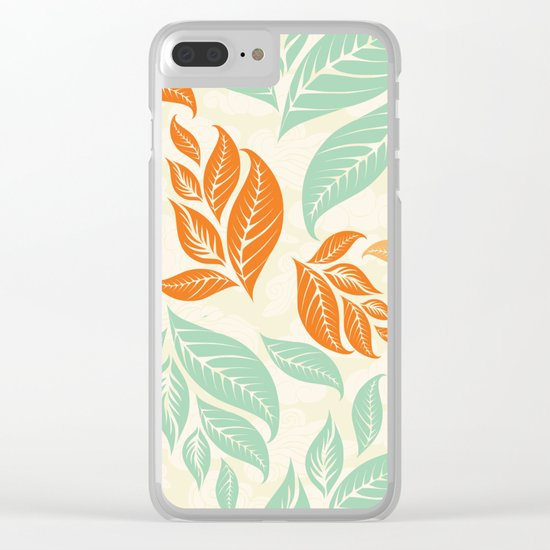 Leaf and autumn Clear iPhone Case