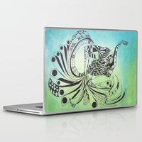 pisces Laptop & iPad Skins featuring Pisces by Heaven7