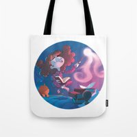 hermione Tote Bags featuring Hermione Granger by Annalisa Leoni