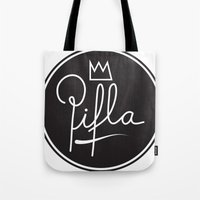 logo Tote Bags featuring Logo by Pifla