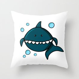 Baby shark birthday party, Shark vector, Baby shark clipart, Shark silhouette, Shark png, Shark logo Throw Pillow