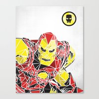 ironman Canvas Prints featuring Ironman by Josh Ln