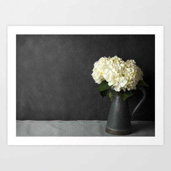Hydrangeas in Gray - A Still Life Art Print