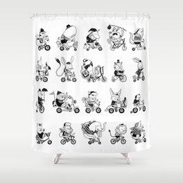 Animals Bicylcle Club Shower Curtain