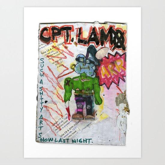 Captain Lamo Art Print