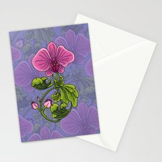 Pink Orchid Filigree Stationery Cards