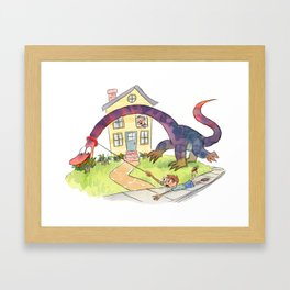 STAY! STAAAY! Framed Art Print