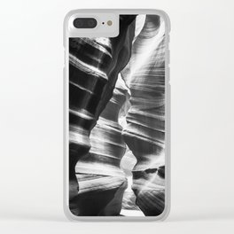 Waves of sandstone at Antelope Canyon Clear iPhone Case
