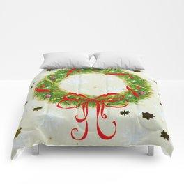 Christmas Wreath Comforters