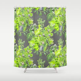 Chartreuse pattern Shower Curtain