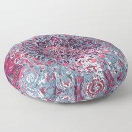 Vintage Boho Burgundy Mandala Floor Pillow