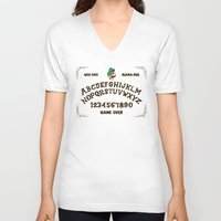 luigi V-neck T-shirts featuring LUIGI BOARD by Josh LaFayette