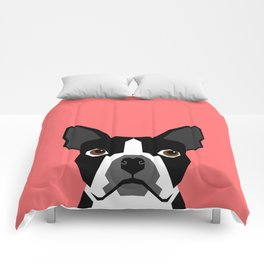 Kennedy - Boston Terrier cute dog themed gifts for small dog owners and Boston Terrier gifts  Comforters