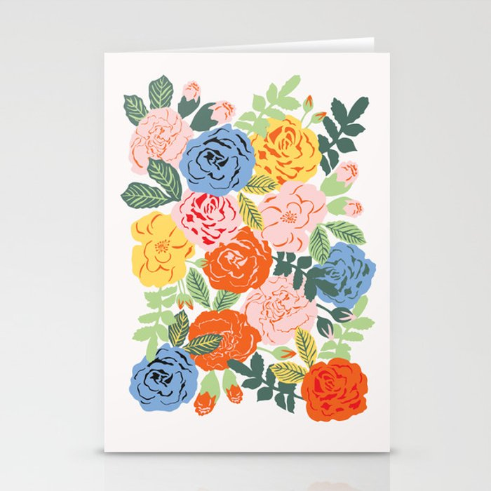 Retro Roses / Light Stationery Cards