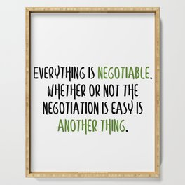 Carrie Fisher Negotiable Quote Serving Tray