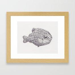 Emo Fish Framed Art Print