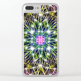 Electric Rainbow Stargate Clear iPhone Case