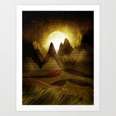 Moonmadness Art Print