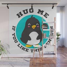 Huggin' Penguin Wall Mural