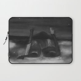 Dreams by Lu, black-and-white Laptop Sleeve
