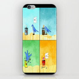 Bird vs. Yams iPhone Skin