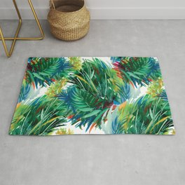 Tropical Watercolor Pattern Rug