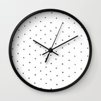 polka dot Wall Clocks featuring Polka Dot by Eric Latimer
