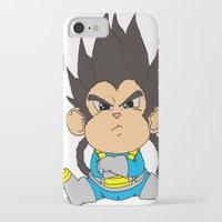 vegeta iPhone & iPod Cases featuring Monkey Vegeta by Kame Nico