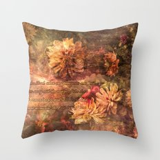 Postcard with lyrics by Lord Byron Throw Pillow