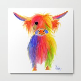 Scottish Highland Cow ' TOTTIE ' by Shirley MacArthur Metal Print