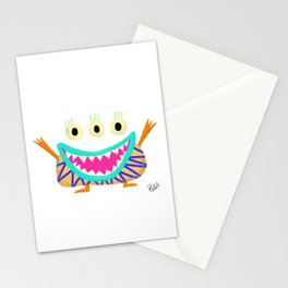 Excited Little Monster Stationery Cards