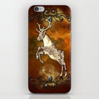 reindeer iPhone & iPod Skins featuring Reindeer by nicky2342