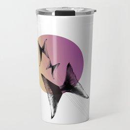 Flying tales — color circle yellow-pink Travel Mug