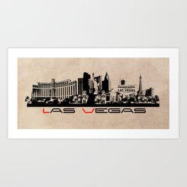 Las Vegas skyline Art Print