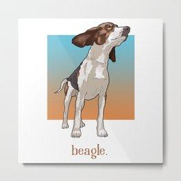 Beagle. Metal Print