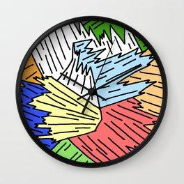 Color Shards Wall Clock
