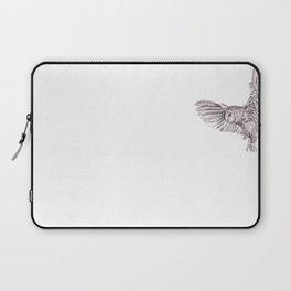 Pencil Drawing - Owl in flight Laptop Sleeve