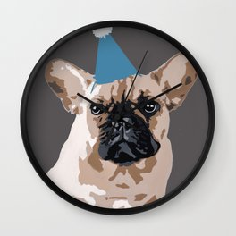 Milo on dark grey Wall Clock