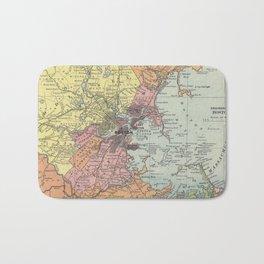 Vintage Map of Boston Massachusetts (1903) Bath Mat